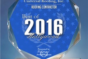 Universal Roofing Inc - Best Roofing Contractor Award 2016